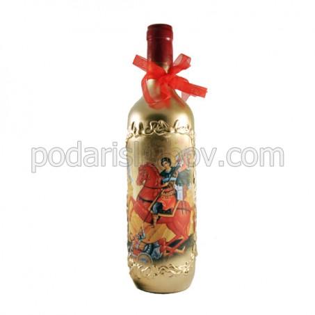 Арт бутилка за Димитровден (26.10.17), червено вино