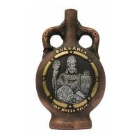 """Декоративна бутилка от керамика """"Цар Симеон"""", червено вино"""