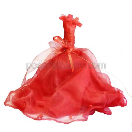"Декорирана бутилка с вино ""Червена прелест"""