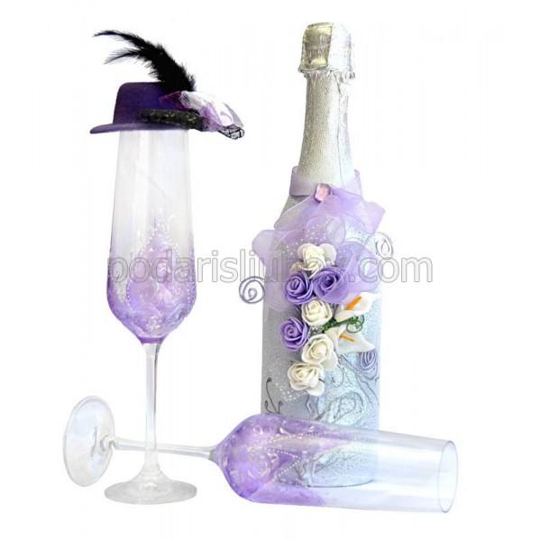 """Комплект ритуални чаши с шампанско """"Милейди"""""""