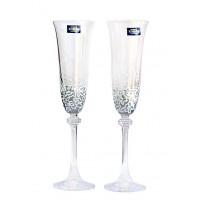 """Комплект ритуални чаши за шампанско """"Бяла дантела"""""""