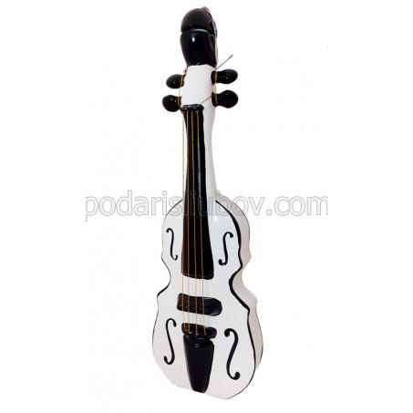 Бутилка бяла Цигулка, керамика, водка 1000мл