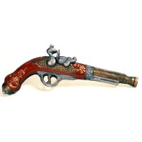 Декоративна бутилка от керамика Пистолет за дуел, водка