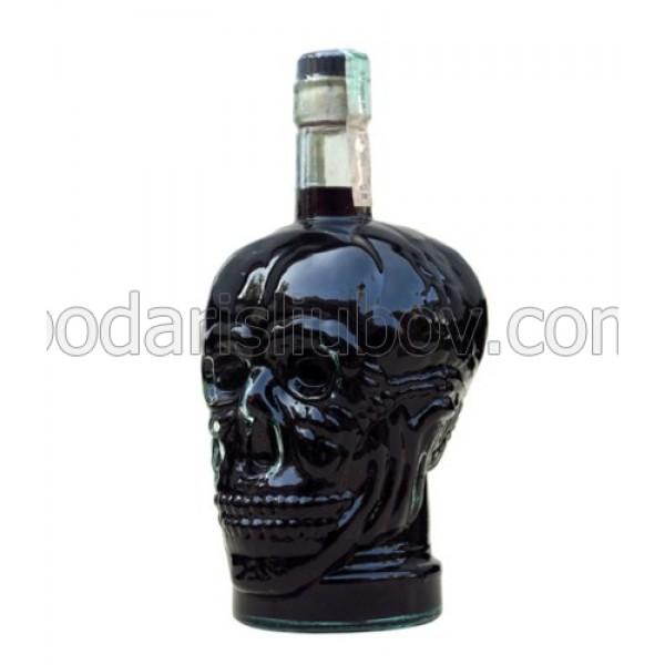 Декоративна бутилка Череп, черна водка