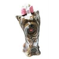 Бутилка Куче Йоркширски териер, керамика, водка 350мл