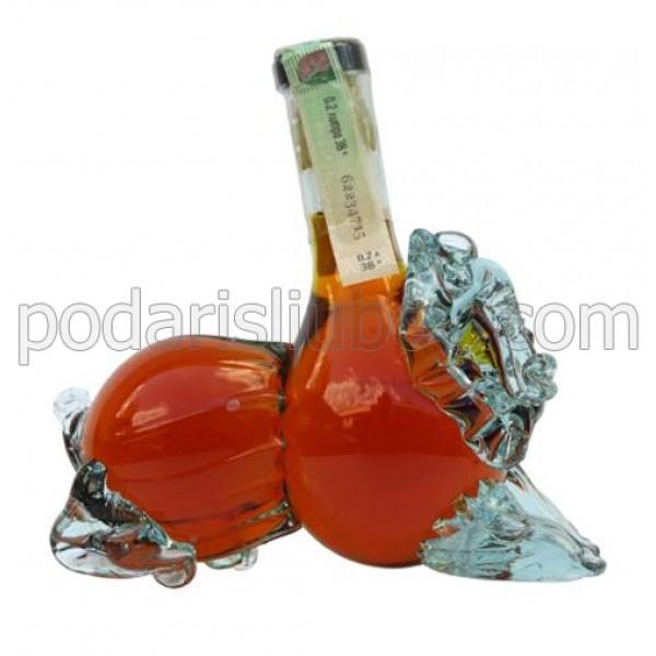 Декоративна бутилка Лъв, червен ром