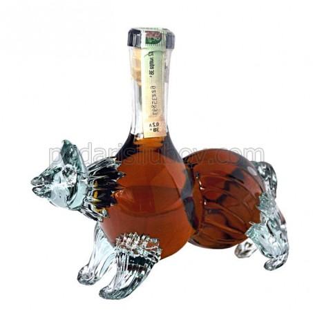 Декоративна бутилка мечка, червен ром