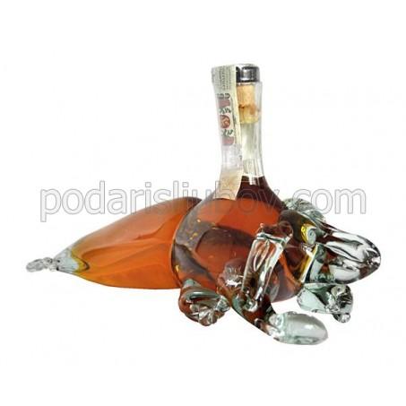 Декоративна бутилка Омар, червен ром