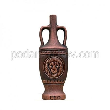 """Декоративна бутилка от керамика с вино """"Зодиак - Лъв"""""""