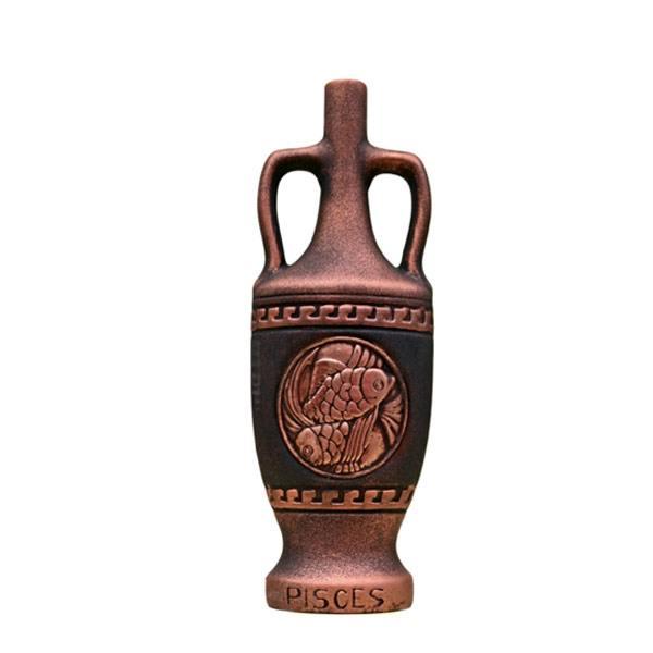 """Декоративна бутилка от керамика с вино """"Зодиак - Риби"""""""