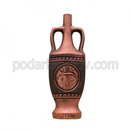 """Декоративна бутилка от керамика с вино """"Зодиак - Стрелец"""""""