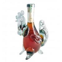 Декоративна бутилка Петел (2017 - Година на петела), червен ром