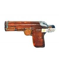 Декоративна бутилка Пистолет, червен ром