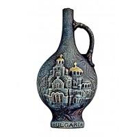Декоративна бутилка с червено вино - Александър Невски