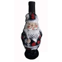 Декоративна бутилка с червено вино - Дядо Мраз