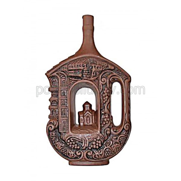 Декоративна бутилка с червено вино - Манастир