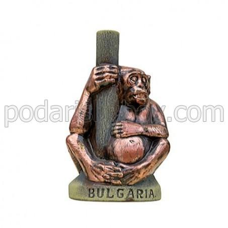 Декоративна бутилка с червено вино - Маймуна