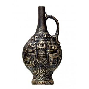 Декоративна бутилка с червено вино - Стар Град