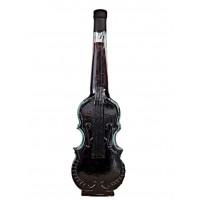 Декоративна бутилка с червено вино - Цигулка