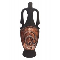 """Декоративна бутилка от керамика """"Дева Мария"""", червено вино"""