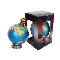 Декоративна мини бутилка от керамика Глобус 350мл, водка