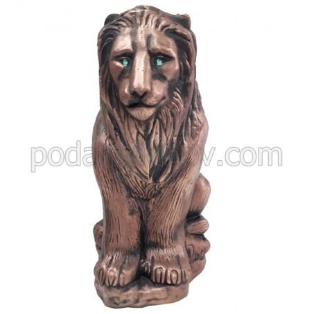 Декоративна керамична бутилка Лъв, червено вино