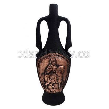 Декоративна керамична бутилка Св. Мина, червено вино