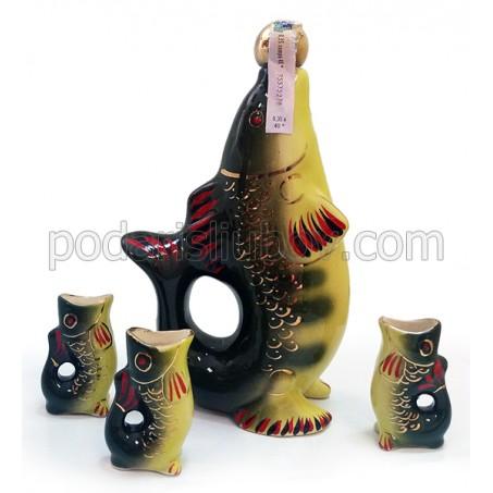 Бутилка Костур с три шота от керамика, водка 350мл