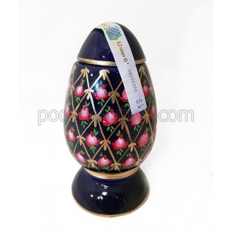 Бутилка яйце тип Фаберже, керамика, водка Златогор 200мл