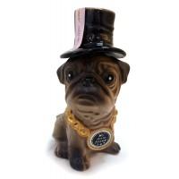 Бутилка Куче Мопс от керамика, украинска водка 350мл