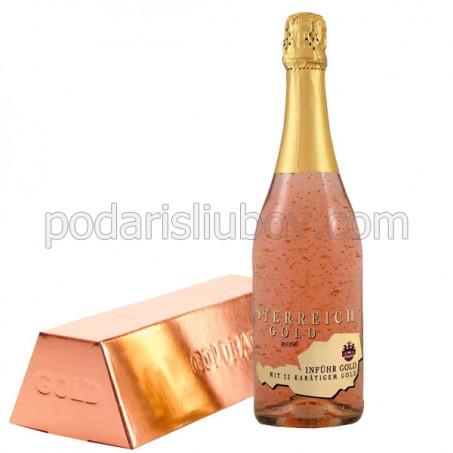 Златно шампанско Розе със златни частици 750мл