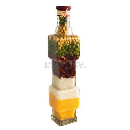 Геометрична декоративна бутилка - 30см