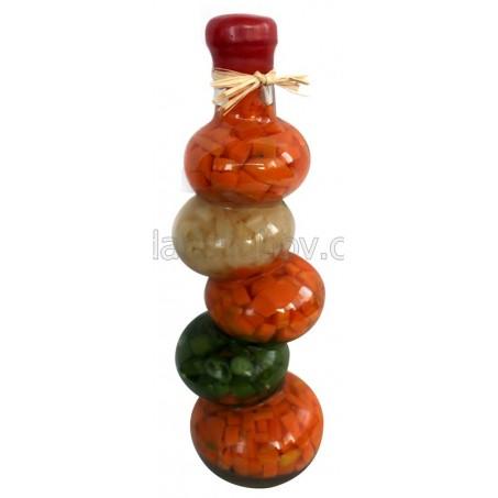 Кръгъл зиг заг, декоративна бутилка - 30см