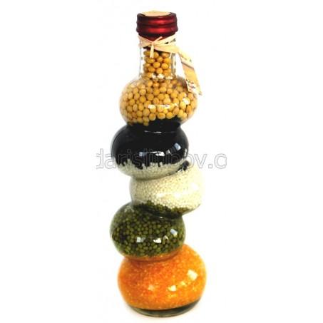 Овален зиг заг, декоративна бутилка - 30см