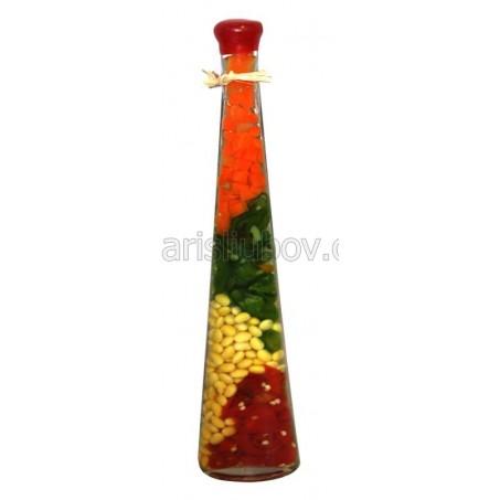 Триъгълни нюанси, декоративна бутилка - 30см