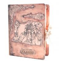 Дървена кутия книга с декорация Париж