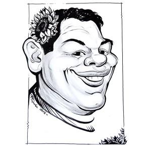 Дигитална черно-бяла карикатура от Ваши снимки с 1 лице, размер А4