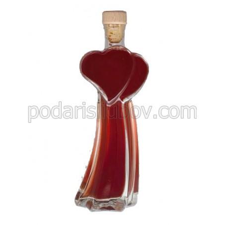 Сувенирна бутилка Летящи сърца , 200мл