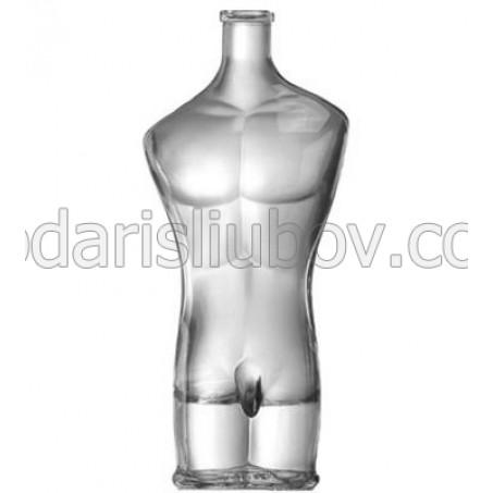 Сувенирна бутилка торс Адам, 500 мл