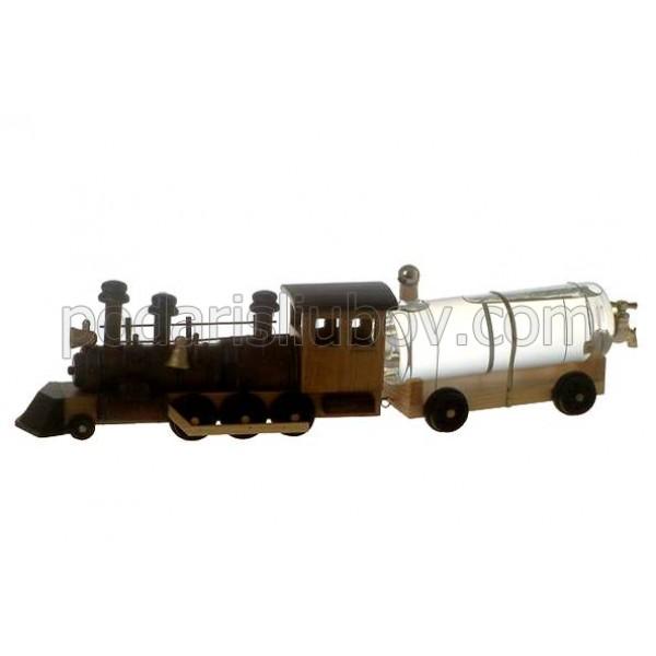 Сувенирна бутилка Влак с кранче, 500мл