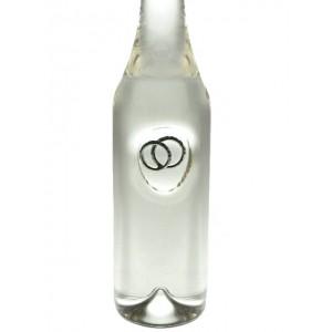 Сувенирна бутилка за сватба/ годишнина с халки, 200мл