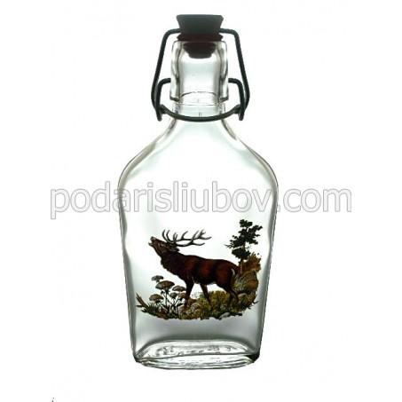 Сувенирна ловна бутилка елен, 200мл