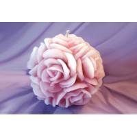 Ароматна свещ розови листа - топка, за 8 март