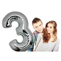 Балон 100см с цифра за Годишнина