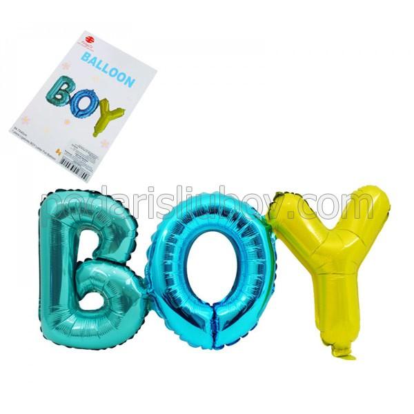 Балон - надпис BOY, 65/30см, за момченце