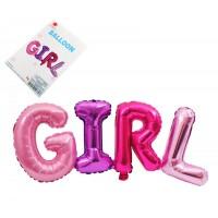Балон - надпис GIRL, 78/30см, за момиченце