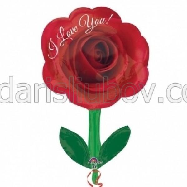 Балон във форма на червена роза, 45см