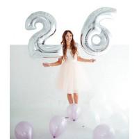 Комплект от 2 бр. фолиеви балони - цифри, размер 1 метър