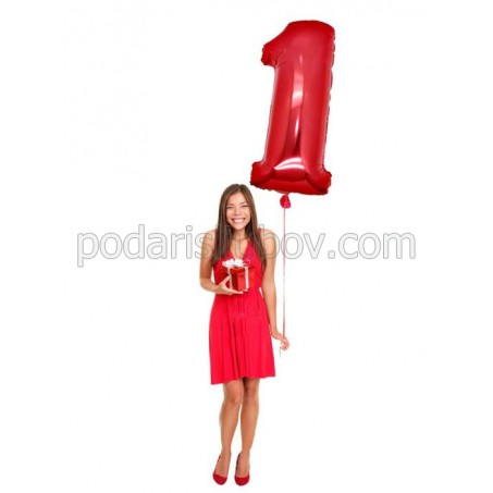 Огромен любовен балон цифра 1 за първата Годишнина,120см
