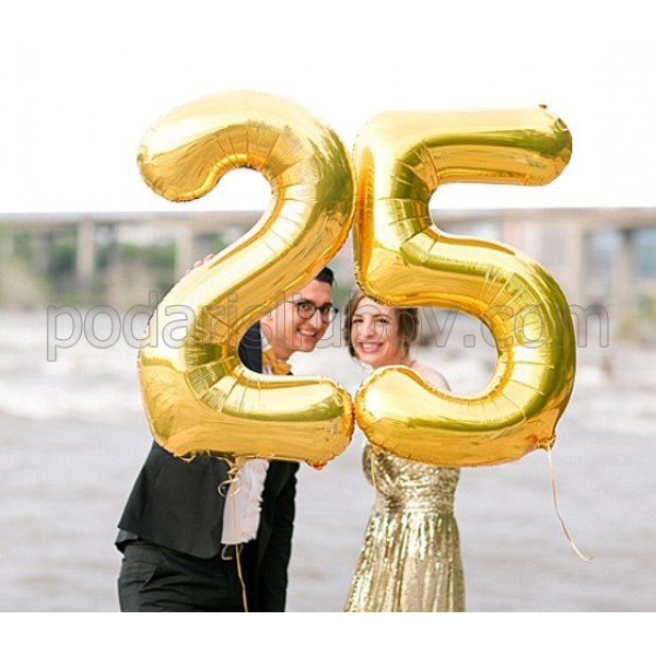 За рожден ден! 2 бр. огромни балони - цифри, размер 1 метър
